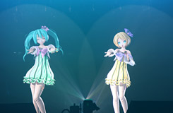 ミクパ♪札幌 場面写真 (C) Crypton Future Media, Inc. Graphics by SEGA/MARZA ANIMATION PLANET INC. Organized by 5pb. Inc.