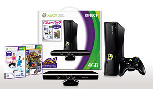 「Xbox 360 4GB + Kinect バリューパック」 (C) 2010 Ubisoft Entertainment. AllRightsReserved.Your Shapelogo,Ubisoft,andtheUbisoftlogoaretrademarksofUbisoftEntertainment in the U.S. and/or other countries. (C) 2011 Microsoft Corporation. All Rights Reserved.
