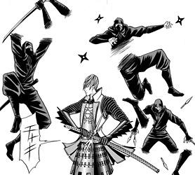 「戦国BASARA3 –Bloody Angel-」(著・伊藤龍)漫画切り抜き