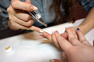 羽織柄ベースのエアブラシ (C)Nail Salon Ayumino ALL Rights Reserved. (C) IDEA FACTORY / DESIGN FACTORY