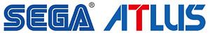 「セガ」ロゴ、「アトラス」ロゴ