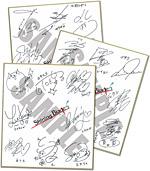B賞:出演声優寄せ書きサイン色紙(3種のうちいずれか) (C) SEGA
