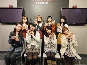 下段左から:桑島法子、三上枝織、伊藤かな恵、相沢 舞、上段左から:江森浩子、斎藤千和、広橋 涼、藤東知夏