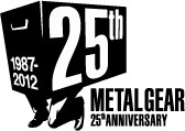 「METAL GEAR」シリーズ生誕25周年ロゴ