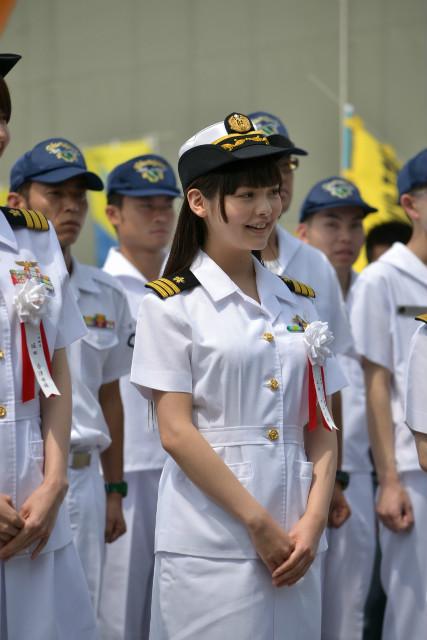 声優・上坂すみれが護衛艦「やまゆき」1日艦長を体験