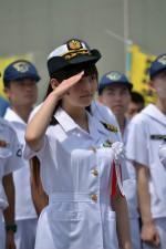 上坂すみれ、護衛艦「やまゆき」の1日艦長