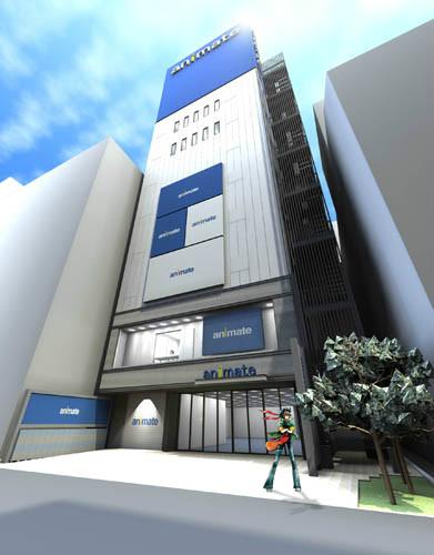 アニメイト池袋本店 移転リニューアル後のイメージ アニメイト池袋本店が11月に移転リニューアル