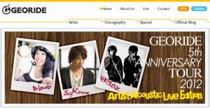 音楽レーベル「GEORIDE(ジオライド)」オフィシャルサイト