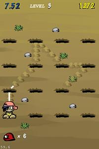 『モグモグライン』ゲーム画面 (C)Visualworks