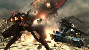 巨大なメタルギアRAYにQTEで攻める『メタルギア ライジング リベンジェンス』場面写真 (C)Konami Digital Entertainment  Developed by PlatinumGames Inc.
