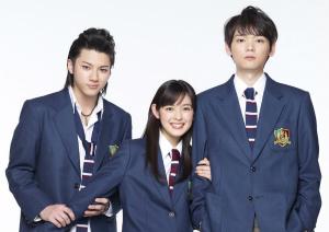 左から山田裕貴、未来穂香、古川雄輝『イタズラなKiss~Love in TOKYO』 (C)「イタズラなKiss~Love in TOKYO」製作委員会