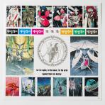 12インチステッカーセット(黒ジャケ) 「ファイブスター物語 × ナタリーストア」 (C)EDIT