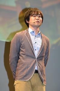 山﨑剛氏 3DS『逆転裁判5』完成披露会 写真:オタラボ【otalab】 (C)CAPCOM CO., LTD. 2013 ALL RIGHTS RESERVED.