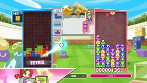 『ぷよぷよテトリス』場面写真 (C) SEGA Tetris (R) & (C) 1985~2013 Tetris Holding. Tetris logos, Tetris theme song and Tetriminos are trademarks of Tetris Holding. The Tetris trade dress is owned by Tetris Holding. Licensed to The Tetris Company. Game Design by Alexey Pajitnov. Original Logo Design by Roger Dean. All Rights Reserved. Sub-licensed to Sega Corporation.