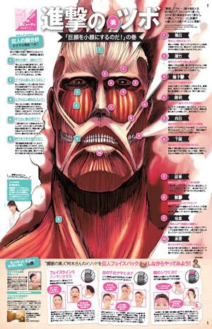 「進撃の巨人」なりきりフェイスパックが、ビューティ誌『VOCE』6月号の付録となって登場 (C) 諫山創/講談社