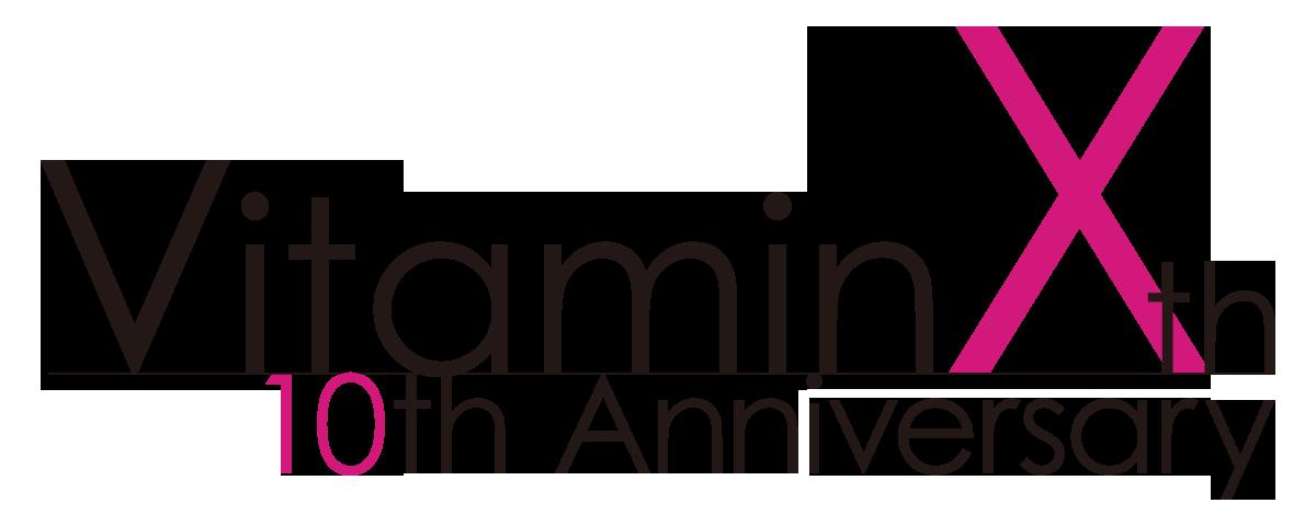VitaminX10周年ロゴ横組み_黒