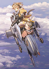 「ラストエグザイル-銀翼のファム-」キービジュアル (C) 2011 GONZO/ファムパートナーズ