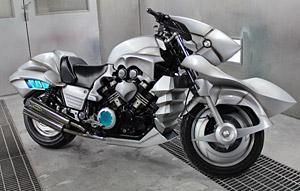 1/1スケール「セイバー・モータード・キュイラッシェ」V-MAX実車バイク(C)Nitroplus/TYPE-MOON・ufotable・FZPC