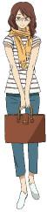 島尾ミホ(CV:冬馬由美) (C)2012 河内遙/祥伝社/アニメ「夏雪ランデブー」製作委員会