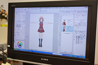 女子高校生3Dキャラクター (C) CELSYS, Inc. All Rights Reserved.