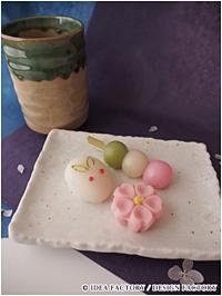『薄桜鬼』和菓子3点セット(桜、三色団子、雪うさぎ) (C) IDEA FACTORY/DESIGN FACTORY