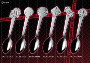 第3・第4・第5・第6・第8・第10の使徒スプーン「EVANGELION JELLY ~使徒スプーン&コア型ゼリー~」 (C)カラー