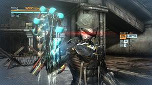 """""""斬奪""""で自己修復ユニットを奪取『メタルギア ライジング リベンジェンス』場面写真 (C)Konami Digital Entertainment  Developed by PlatinumGames Inc."""