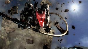 突如として襲いかかるLQ-84i『メタルギア ライジング リベンジェンス』場面写真 (C)Konami Digital Entertainment  Developed by PlatinumGames Inc.
