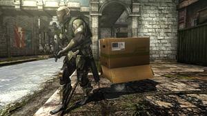 「メタルギア」シリーズおなじみのアイテムが登場取『メタルギア ライジング リベンジェンス』場面写真 (C)Konami Digital Entertainment  Developed by PlatinumGames Inc.