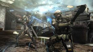 """敵の攻撃をしのいで攻撃する""""シノギ""""『メタルギア ライジング リベンジェンス』場面写真 (C)Konami Digital Entertainment  Developed by PlatinumGames Inc."""