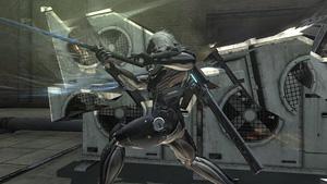 建造物を斬り刻むことができる『メタルギア ライジング リベンジェンス』場面写真 (C)Konami Digital Entertainment  Developed by PlatinumGames Inc.