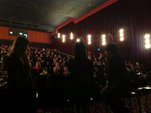 上映後の質疑応答に答える新海誠監督 - ゴールドコースト映画祭『言の葉の庭』より