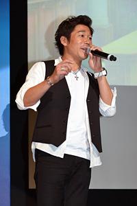 萩原良輔氏 3DS『逆転裁判5』完成披露会 写真:オタラボ【otalab】 (C)CAPCOM CO., LTD. 2013 ALL RIGHTS RESERVED.