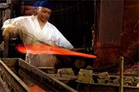 〈ロンギヌスの槍〉 刀匠 三上貞直(広島県)『ヱヴァンゲリヲンと日本刀展』 (C)カラー