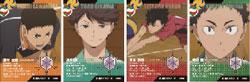 JUMP SHOP 連動施策にて配布される「主将カード」(C) 古舘春一/集英社・「ハイキュー!!」製作委員会・MBS
