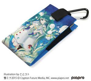 ★限定★雪ミク2015フルカラーモバイルポーチ140 (C) Crypton Future Media, INC. www.piapro.net