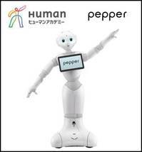 """専門校初 """"Pepper""""を教材として導入 2016年4月総合学園ヒューマンアカデミー ロボットカレッジ開講 - Pepper (C) Human Academy Co., Ltd All Right Reserved."""