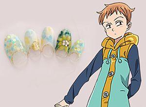 「キング」『七つの大罪』キャラクターネイル (C)鈴木央・講談社/「七つの大罪」制作委員会・MBS